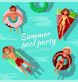 summer pool party vector image vector image