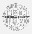 theoretical chemistry concept round line vector image