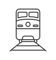 train linear icon vector image