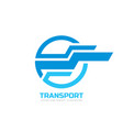 transport - logo concept vector image vector image