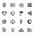 Trendy business and economics icons set 1 vector image vector image