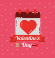 valentines day card calendar love dating banner vector image