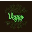 Vegana food logo with mandala vector image