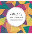 vintage lettering template with aged background vector image