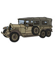 vintage military long convertible vector image vector image
