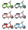 Vintage scooter II on white background vector image
