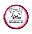 wine label design isolated vector image vector image