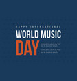 world music day background collection vector image vector image