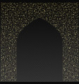 golden gate of the mosque on a transparent vector image