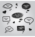 Speech collection element for you design vector image