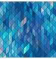 Geometric elegant blue geometry sapphire diamond vector image