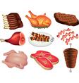 meat set vector image