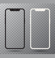 0001 realistic white and black smartphone the