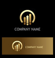 arrow business finance progress gold logo vector image vector image