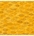 Autumn grunge seamless stylized leaf pattern in