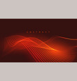background with orange or red glowing lines vector image