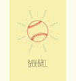 baseball vintage hand drawn style poster vector image vector image