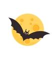 Bat and full moon vector image