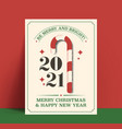 be merry and bright minimalistic vintage styled vector image vector image