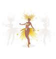 beautiful dancing girl dressed like a star vector image
