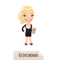 businesswoman with cofee vector image vector image