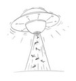 cartoon drawing alien space ship or ufo vector image