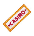 casino signboard with lot of small lamps isolated vector image
