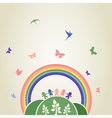Children rainbow vector image vector image