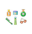 collection of woman cosmetics and accessories vector image vector image