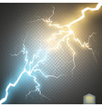 collision of two forces with gold and blue light vector image