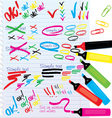 Color Markers Design Elements vector image vector image