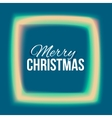 Congratulation to Christmas with lights frame vector image