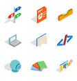 creative specialty icons set isometric style vector image vector image