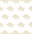 cute animal elephants kids seamless pattern child vector image vector image