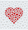 design for valentines day greeting card vector image
