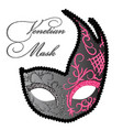 drawing of venetian mask vector image
