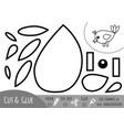 education paper game for children little bird vector image vector image
