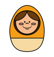 egg wooden toy icon vector image