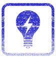 electric bulb framed textured icon vector image vector image