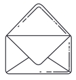 envelope message isolated icon vector image vector image