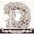 Fable forest hand drawn by a vintage font - D vector image vector image