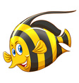 Fish with yellow and black striped vector image vector image