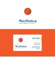 flat basketball logo and visiting card template vector image vector image