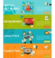 Flat concept banners Social Marketing vector image