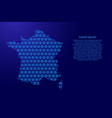 france map abstract schematic from snowflake blue vector image vector image