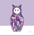 girl cat character hand drawn vector image vector image