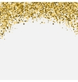 Gold glitter shimmery heading Invitation card or vector image vector image