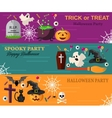 Halloween Horizontal Banners or Flyers vector image vector image