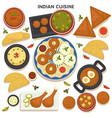 indian cuisine set traditional asian food vector image vector image