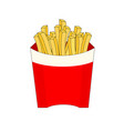 isolated fast food french fries vector image vector image